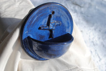 Load image into Gallery viewer, Light Indigo Holy Water Font with Saint Brigid's Cross Relief