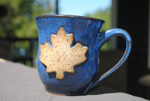 Indigo Maple Leaf Mug