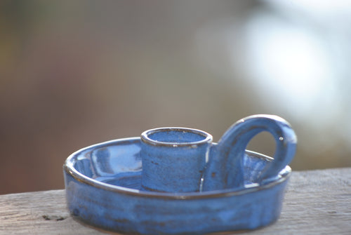 Indigo Candle Holder