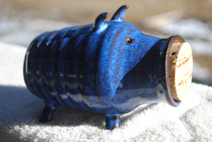 Indigo Piggy Bank