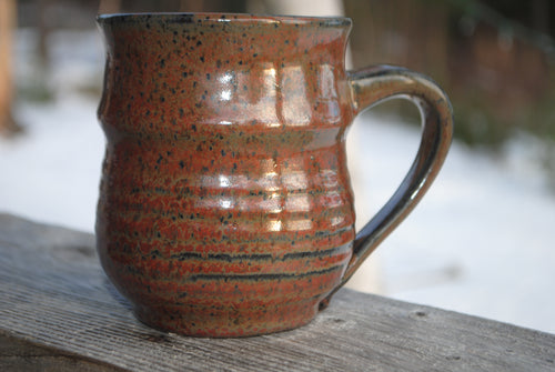 Ironstone Ribbed Mug