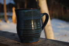 Load image into Gallery viewer, Ribbed Indigo Mug