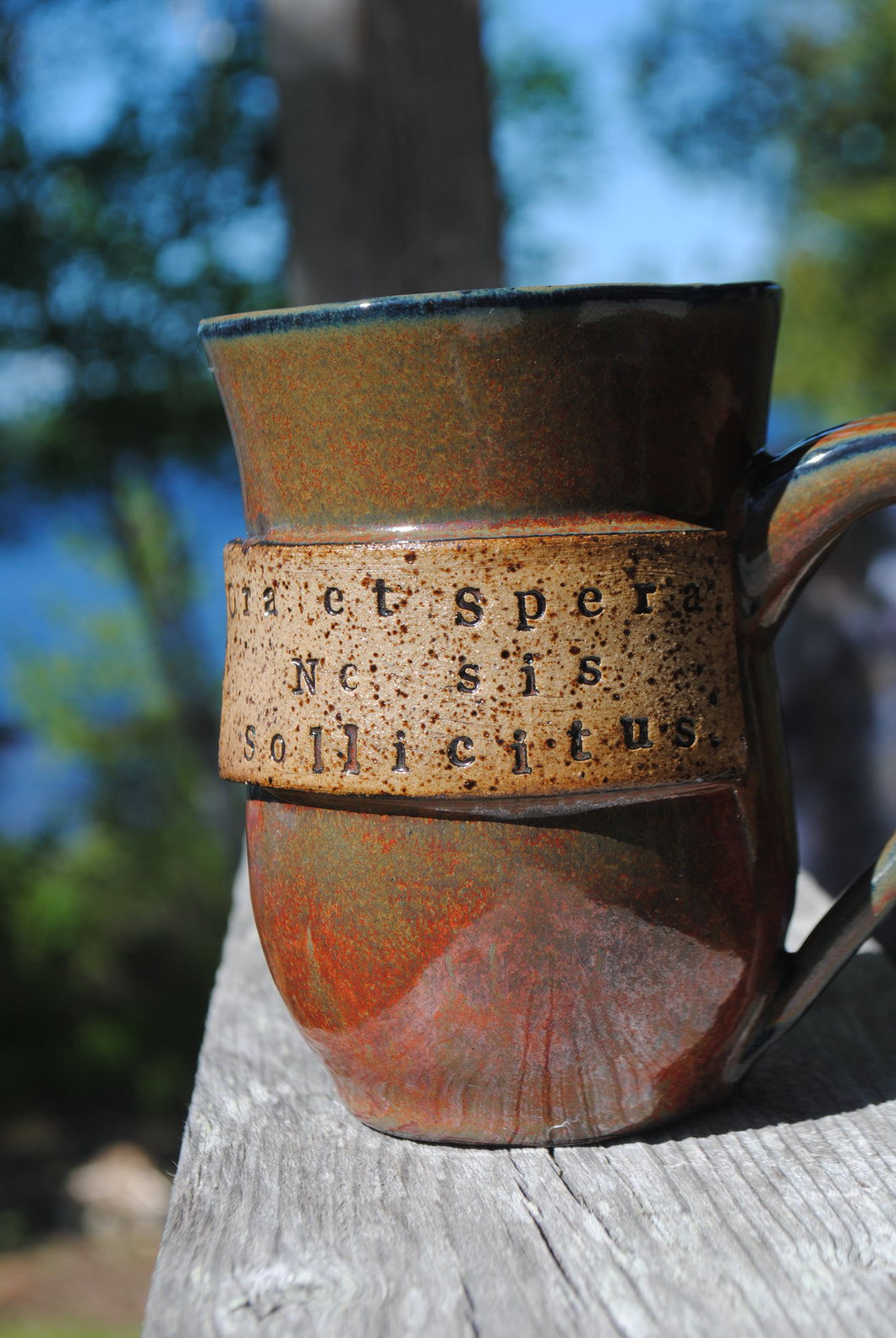 Ironstone Mug, Pray, Hope, Don't Worry