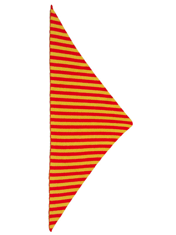 Striped Triangle Neckerchief Scarlet & Turmeric Sample Sale