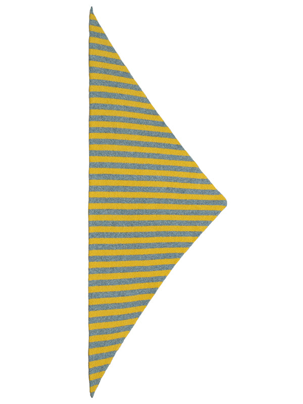 Striped Triangle Neckerchief Jungle & Turmeric Sample Sale