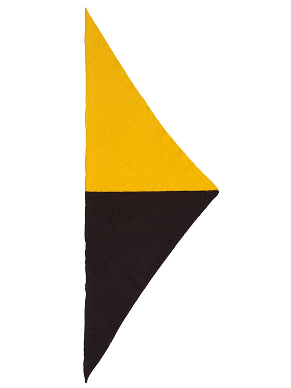 Half Half Triangle Neckerchief Golden eye & Black Sample Sale