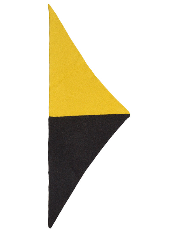 Half Half Triangle Neckerchief Black & Turmeric Sample Sale