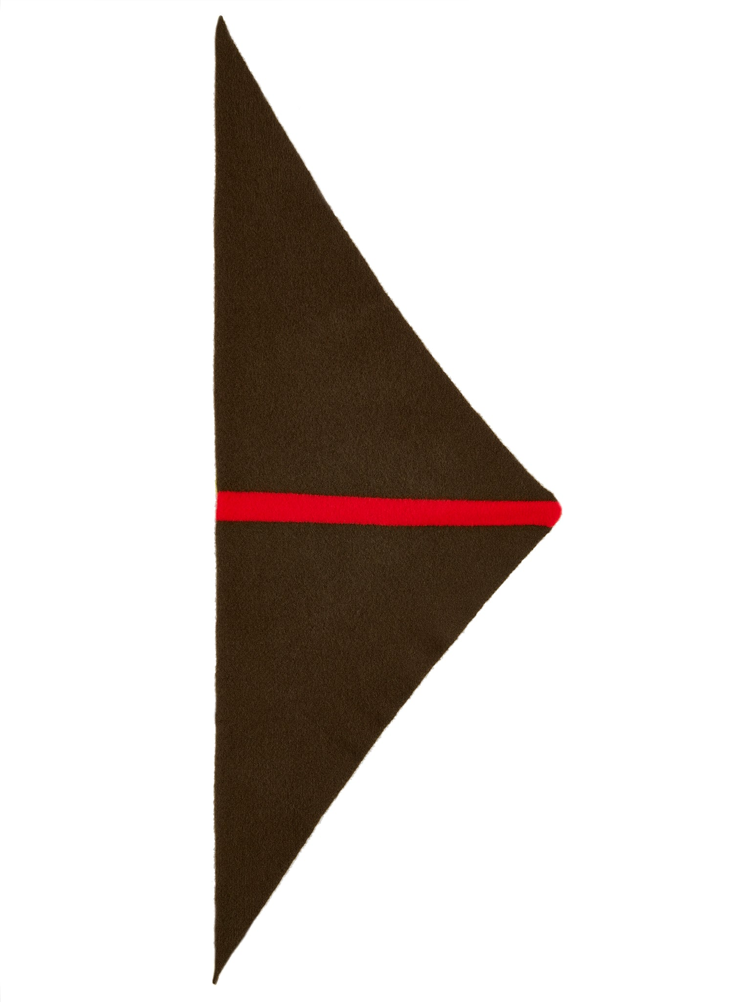 Single Stripe Triangle Neckerchief Military & Scarlet Sample Sale