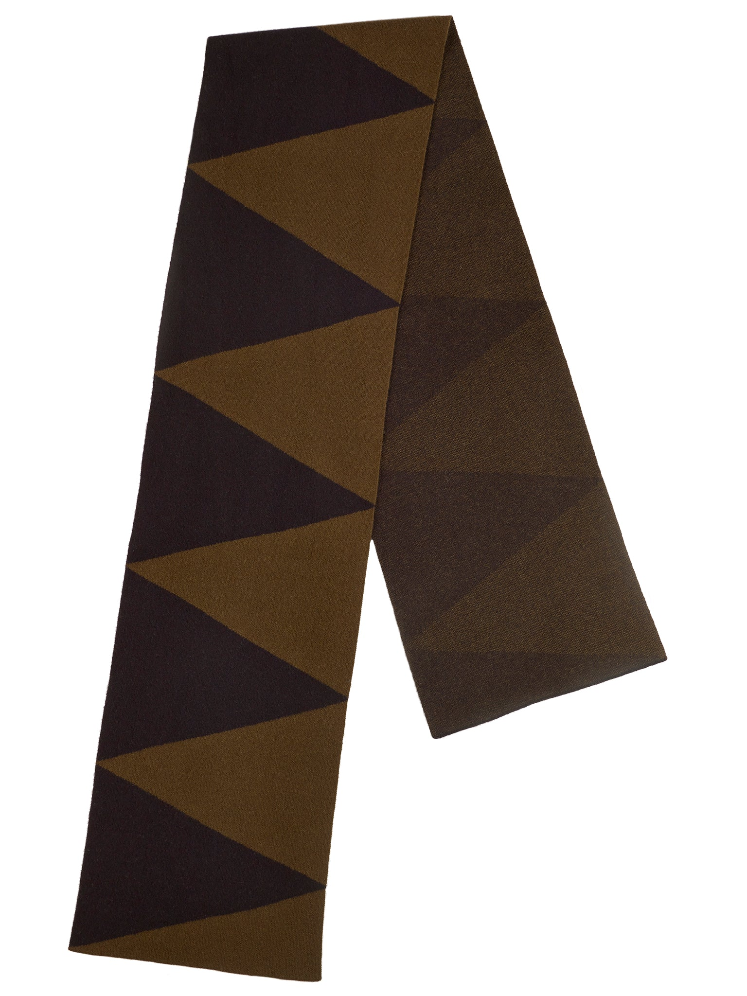 Two Colour Triangle Scarf Military & Black Sample Sale