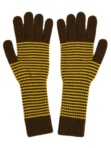 Fine Stripe Gloves Military & Turmeric Sample Sale