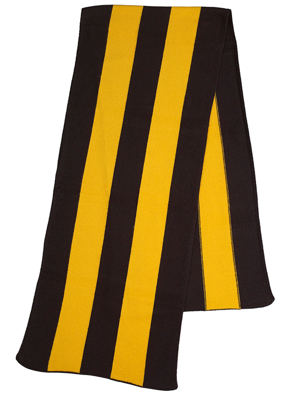 Brushed Vertical Stripe Blanket Scarf Black & Golden Eye Sample Sale
