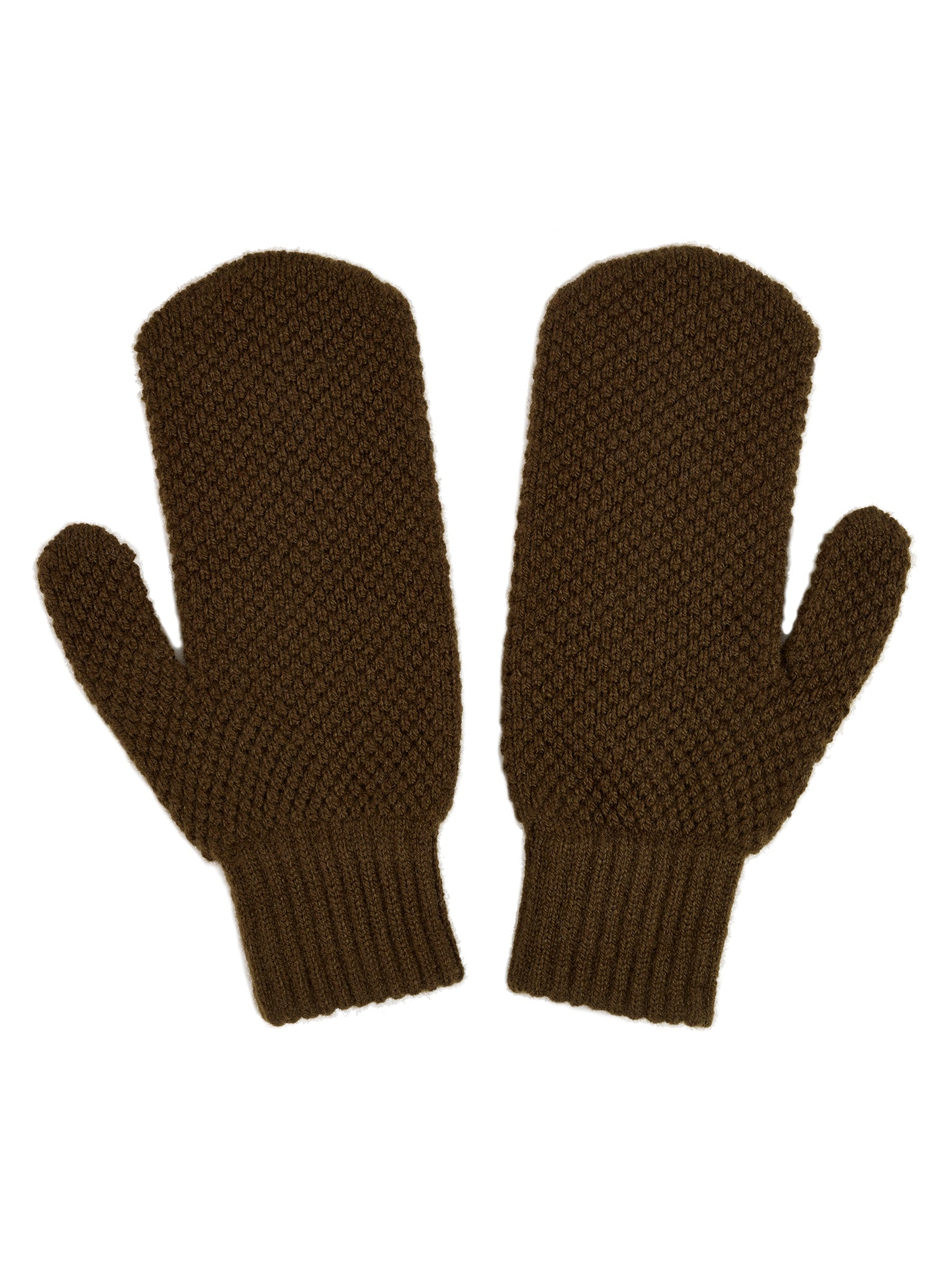 Moss Stitch Mittens Military Sample Sale