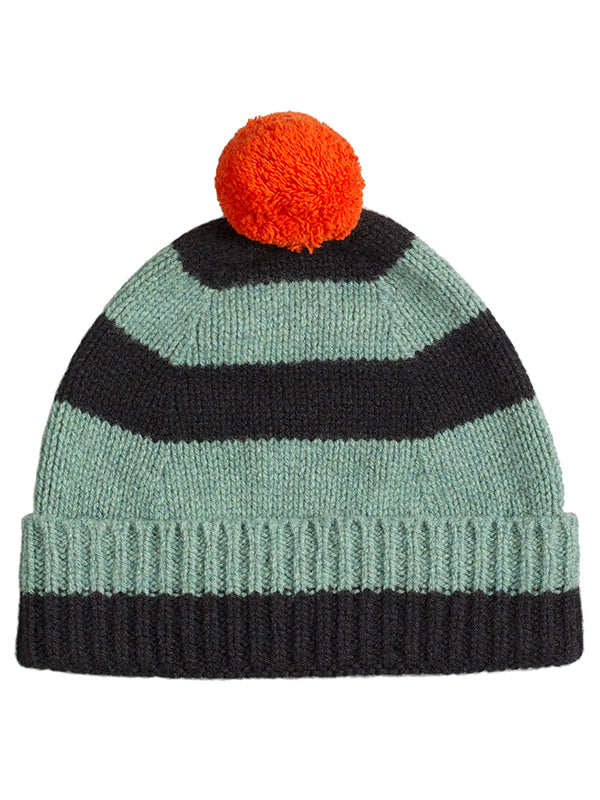 Stripe Pompom Hat Strath & Black Sample Sale