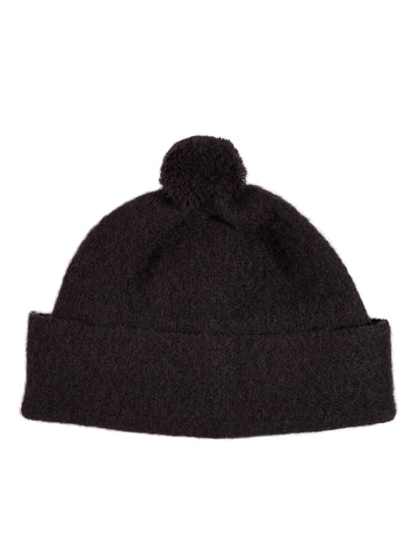 Plain Shetland hat Black Sample Sale