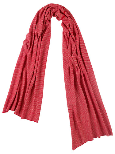 Fine Stripe Scarf Ruby & Swansdown Sample Sale