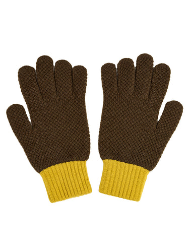 Gloves Military & Turmeric-Gloves-Jo Gordon-Gloves Military & Turmeric-100% Lambswool-Gloves