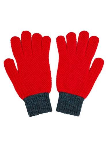 Gloves Scarlet & Lugano-Gloves-Jo Gordon-Gloves Scarlet & Lugano-100% Lambswool-Gloves