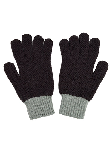 Gloves Black & Kintyre-Gloves-Jo Gordon-Gloves Black & Kintyre-100% Lambswool-Gloves