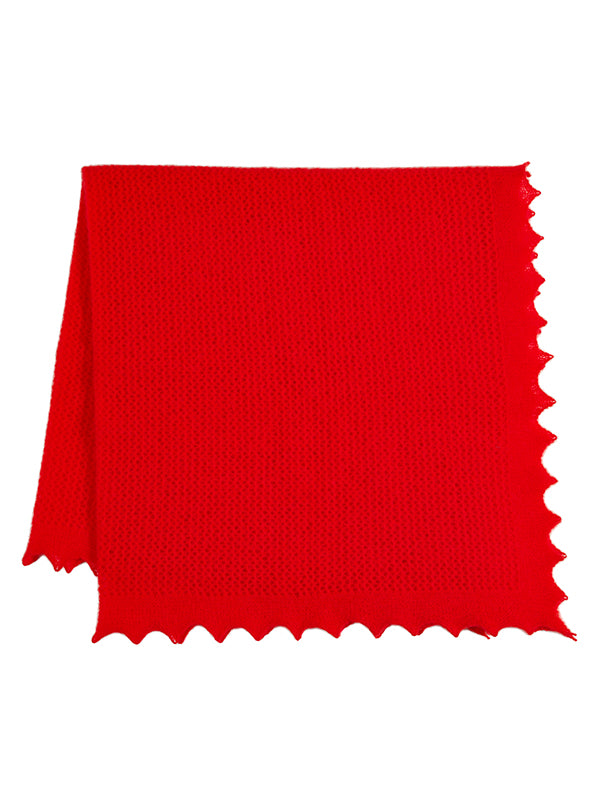 Felted Lace Square Scarlet