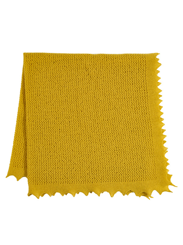 Felted Lace Square Turmeric