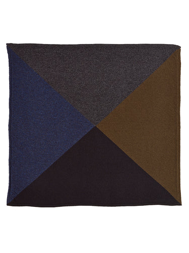 Quarter Square Neckerchief Dark-Small Scarves & Neckerchiefs-Jo Gordon-Quarter Square Neckerchief Dark-100% Lambswool-Neckerchief