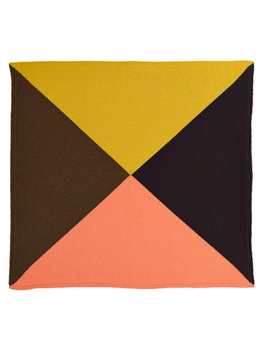 Quarter Square Neckerchief Multicolour-Small Scarves & Neckerchiefs-Jo Gordon-Quarter Square Neckerchief Multicolour-100% Lambswool-Neckerchief