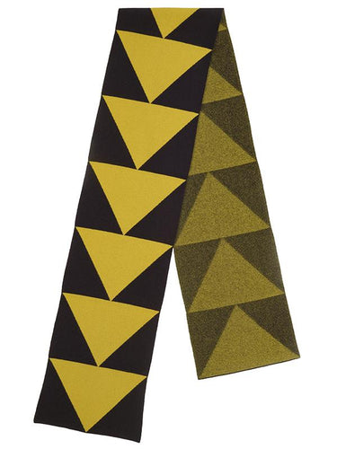 Arrow Scarf-Blanket Scarves-Jo Gordon-Arrow Scarf Black & Turmeric-scarf-100% Lambswool