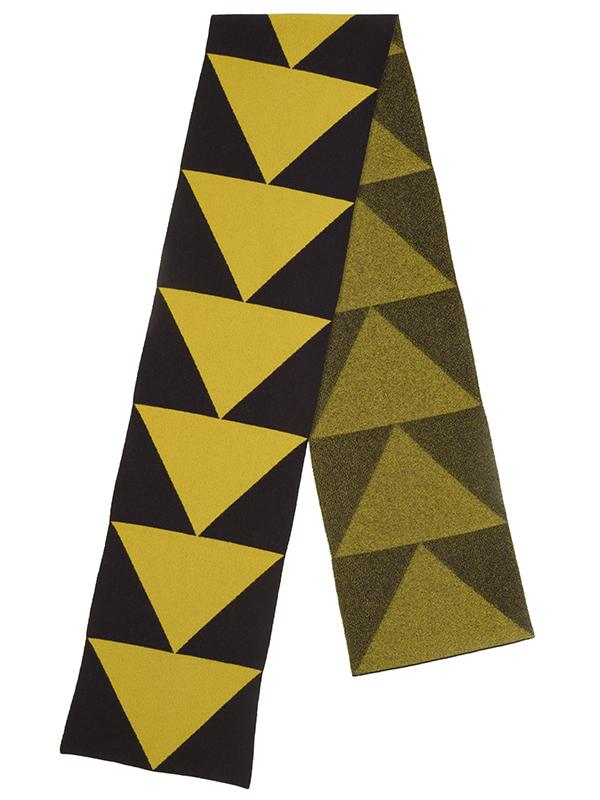 Arrow Scarf Black & Turmeric