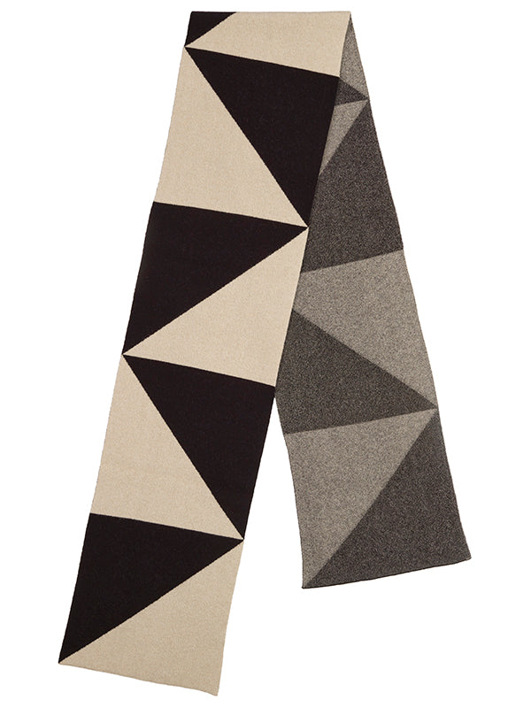 Triangle Scarf Black & Oatmeal