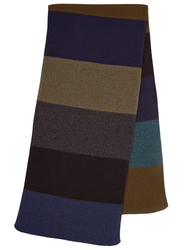 Colourblock Brushed Blanket Scarf Dark-Blanket Scarves-Jo Gordon-Colourblock Brushed Blanket Scarf Dark-100% Lambswool-Blanket Scarves