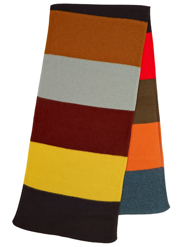 Colourblock Brushed Blanket Scarf Multicolour-Blanket Scarves-Jo Gordon-Colourblock Brushed Blanket Scarf Multicolour-100% Lambswool-Blanket Scarves