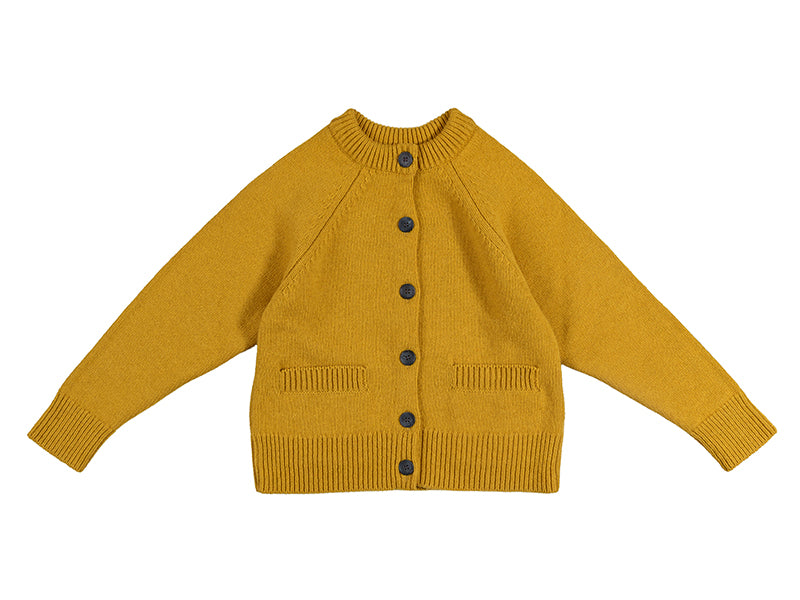 Plain Cardigan Old Gold