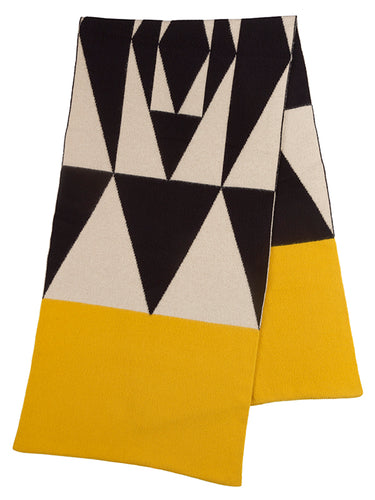 Geometric Brushed Blanket Scarf Multicolour