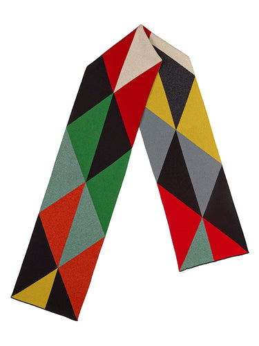 Triangles Scarf Multicolour