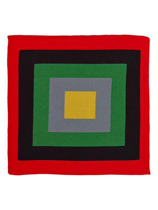 Concentric Square Neckerchief Multicolour