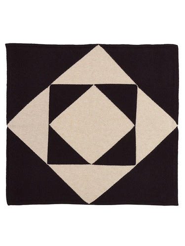 Tile Square Neckerchief Black & Oatmeal