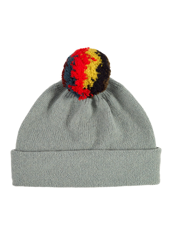 Shaggy Pompom Hat Nero Navy