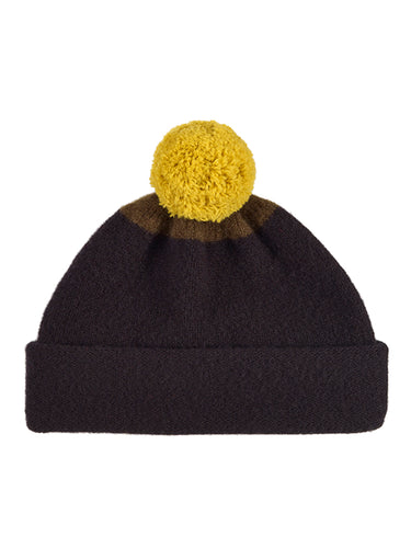 Top Spot Pompom Hat Black & Military