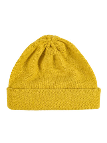 Plain Hat Turmeric-Plain Hats-Jo Gordon-Plain Hat Turmeric-Hat-Plain Hat-100% Lambswool