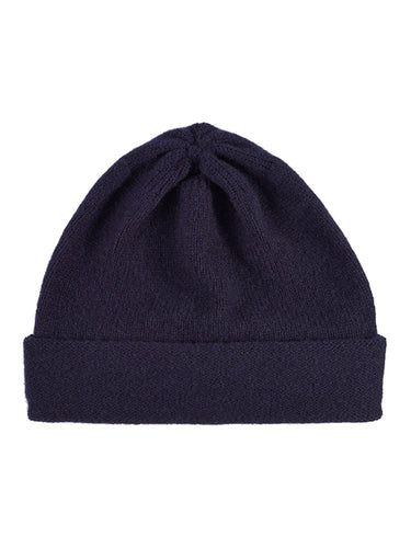 Plain Hat Nero Navy-Plain Hats-Jo Gordon-Plain Hat Nero Navy-Hat-Plain Hat-100% Lambswool