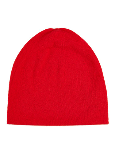 Fine Plain Hat Scarlet-Plain Hats-Jo Gordon-Fine Plain Hat Scarlet-Hat-Plain Hat-100% Lambswool