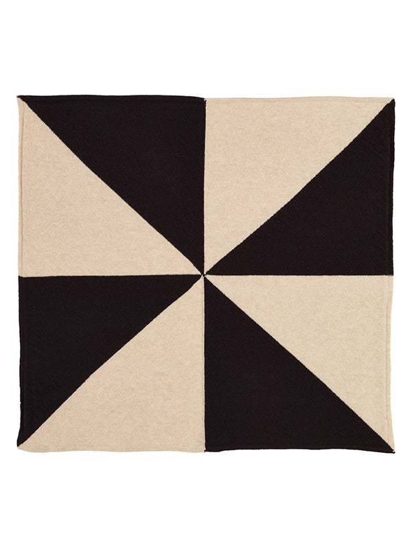 Windmill Square Neckerchief Black