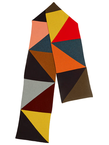 Multicoloured Triangle Scarf-Blanket Scarves-Jo Gordon-scarf-100% Lambswool