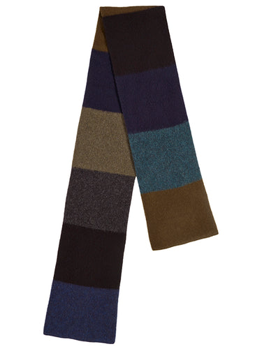 Brushed Colourblock Scarf Dark-Scarves-Jo Gordon-Brushed Colourblock Scarf Dark-scarf-100% Lambswool
