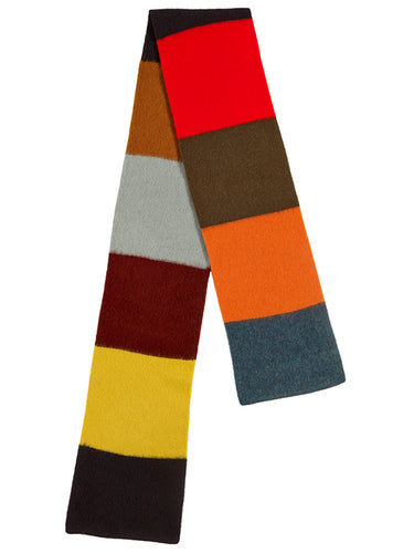Brushed Colourblock Scarf Multicolour-Scarves-Jo Gordon-Brushed Colourblock Scarf Multicolour-scarf-100% Lambswool
