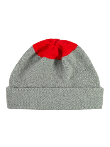 Top Spot Hat-Plain Hats-Jo Gordon-Top Spot Hat Kintyre & Scarlet-Hat-Plain Hat-100% Lambswool