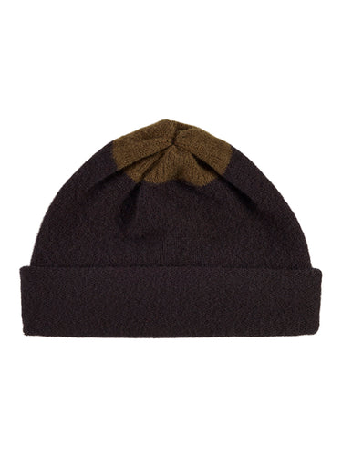 Top Spot Hat Black & Military-Plain Hats-Jo Gordon-Top Spot Hat Black & Military-Hat-Plain Hat-100% Lambswool