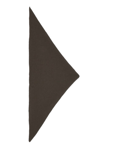 Plain Triangle Neckerchief Military-Small Scarves & Neckerchiefs-Jo Gordon-Plain Triangle Neckerchief Military-100% Lambswool-Neckerchief