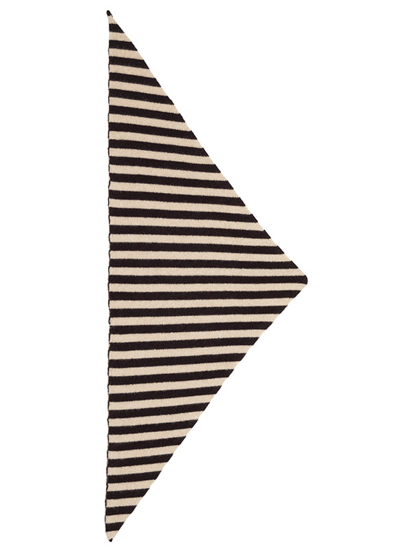 Striped Triangle Neckerchief Scarlet & Oatmeal