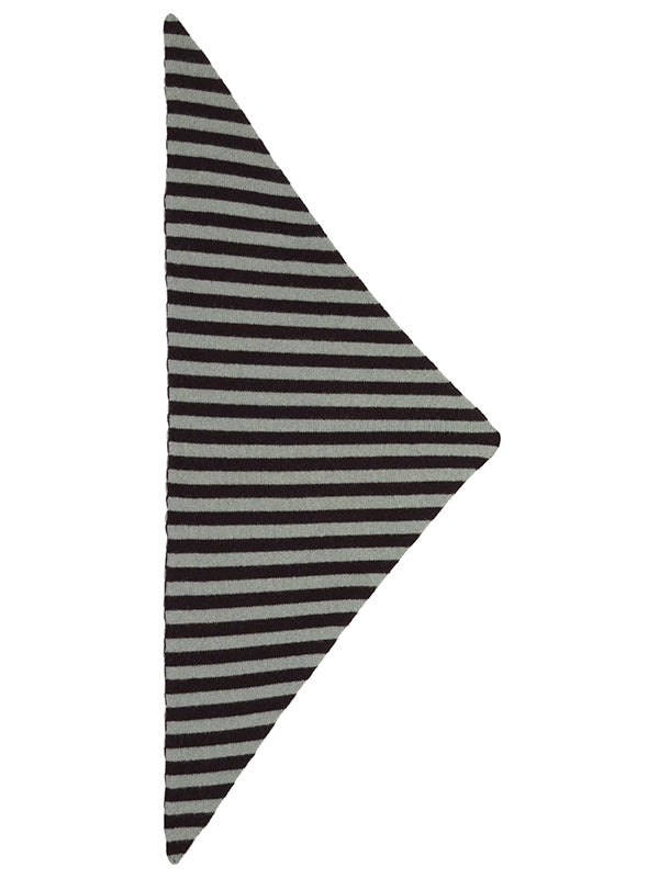 Striped Triangle Neckerchief Black & Kintyre